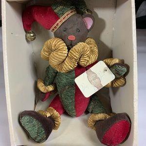 VTG NEW classic treasures Christmas wooden Teddy